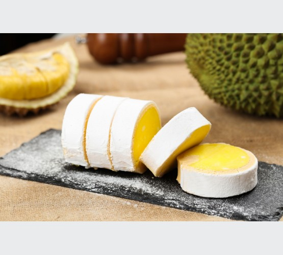 Premium Durian Swiss Roll (Single Slice)